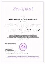 Zertifikat Bewusstseinscoach der Am-Ziel-Erleuchtung©
